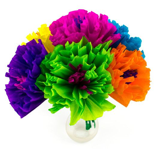 Mexican Paper Flowers   Mexican Party Supplies at Amols  Fiesta Cinco de Mayo Decorations Chayo s Flowers  5 5   Image