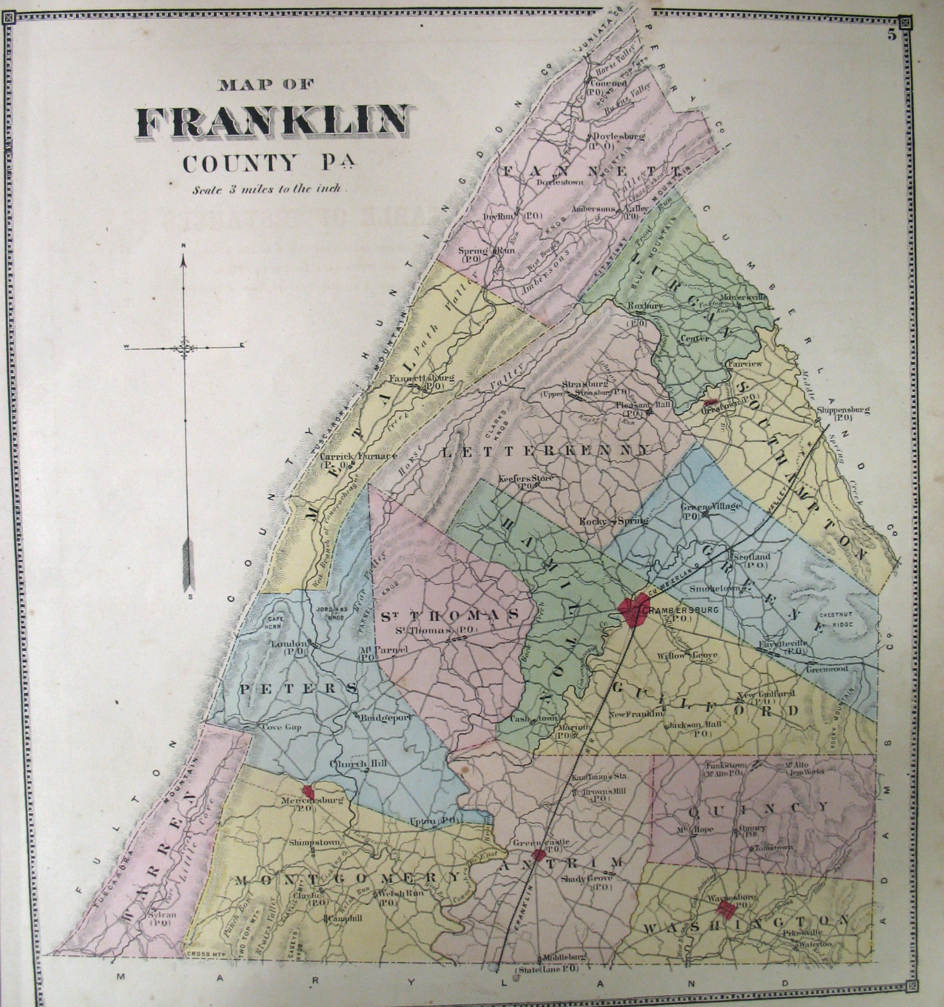 Franklin Co  Atlas  1868 Franklin County  1868  Township Maps