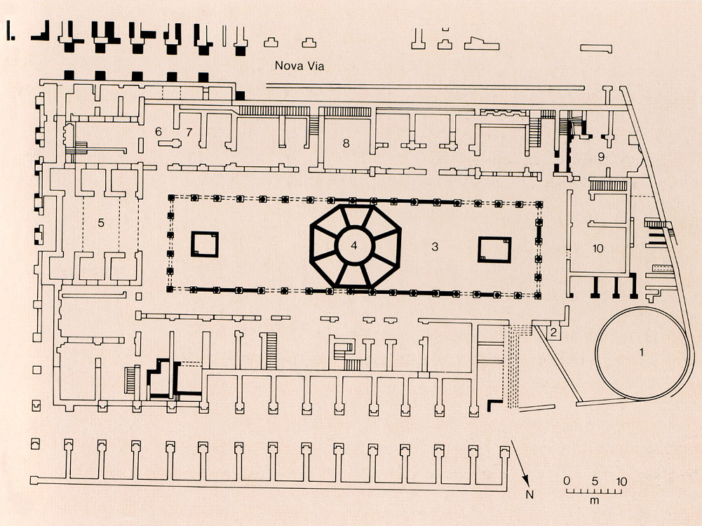 Plan of the House of Vestals. Rome, Roman Forum