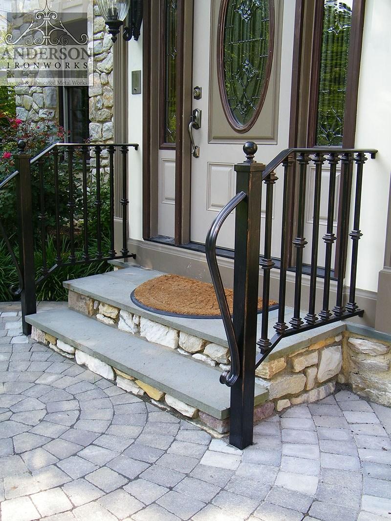 Wrought Iron Railing Custom And Pre Designed Anderson Ironworks | Outdoor Metal Stair Railing | Ornamental | Banister | Custom | Urban Metal Deck | Garden