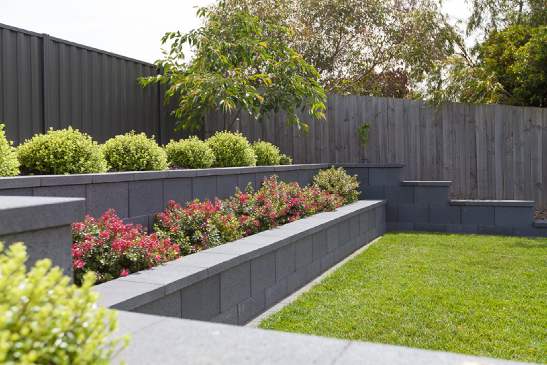 Large Flat Stones Landscaping