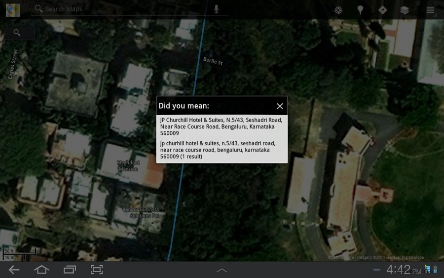 How to Find Directions with Google Maps on HoneyComb Tablets     Driving direction