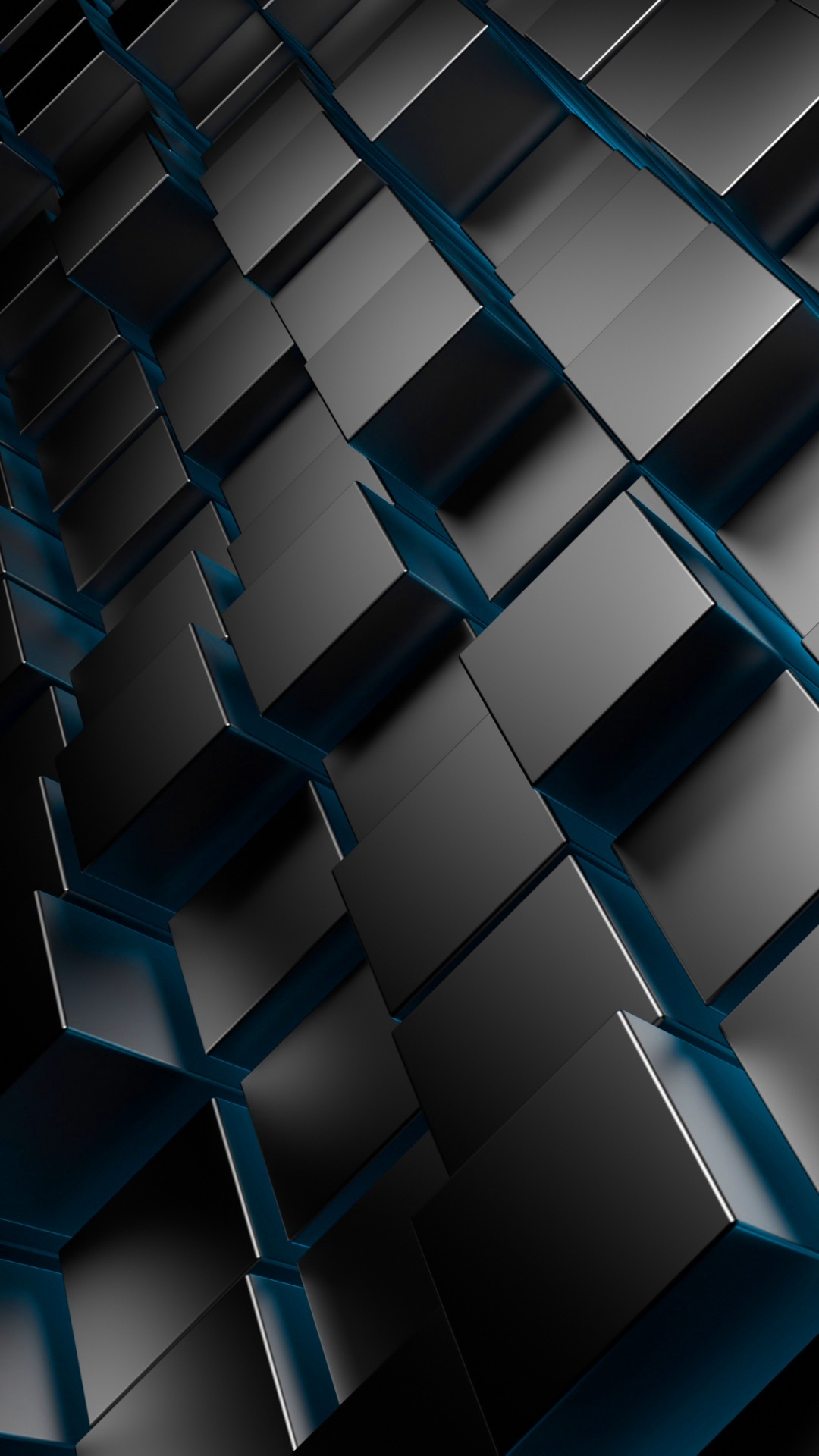 3D Metal Cubes Blue Android wallpaper   Android HD wallpapers