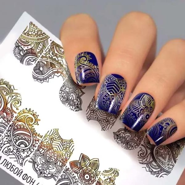 Fashion Nails, Слайдер дизайн Metallic-62
