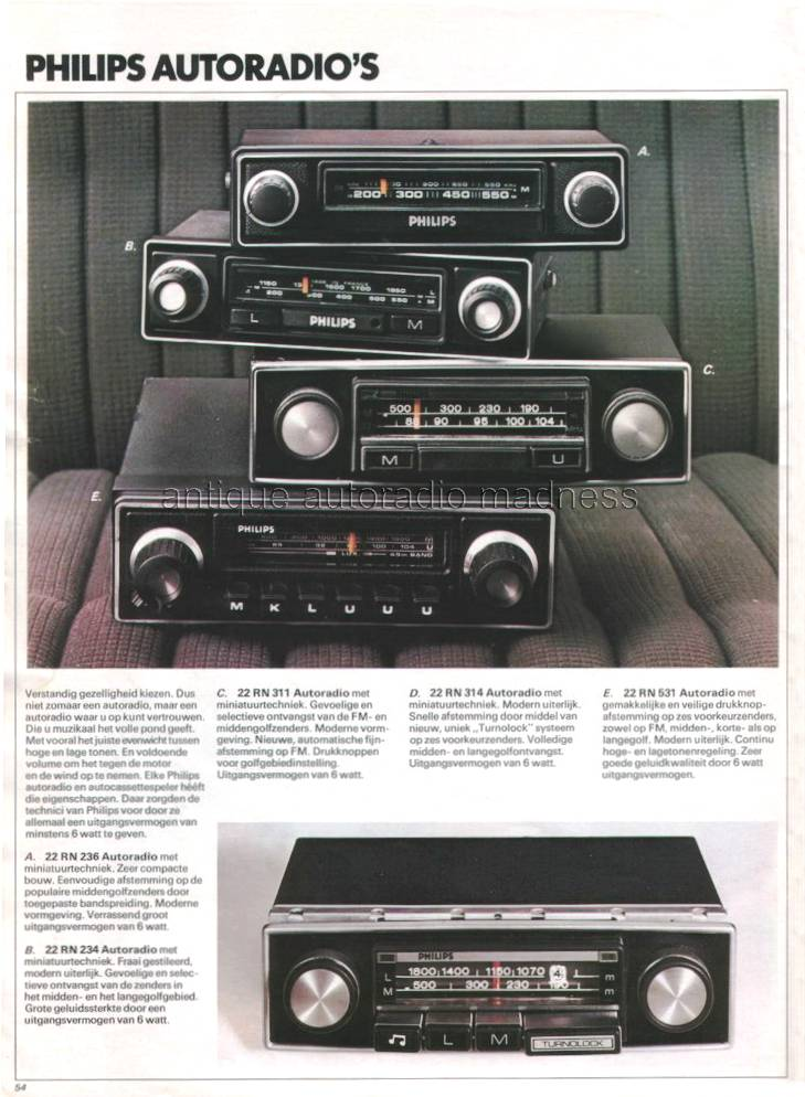 Autoradio Philips 1974