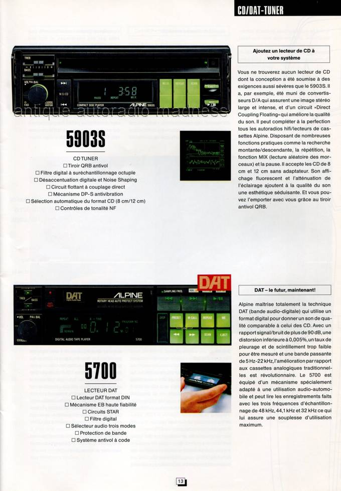 Catalogue Autoradio Alpine Vintage 1991 3