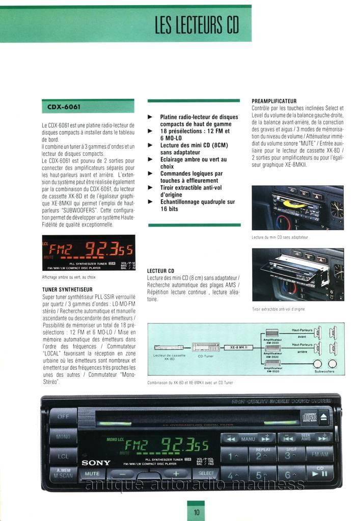 Catalogue Autoradio Sony Vintage 1990 2