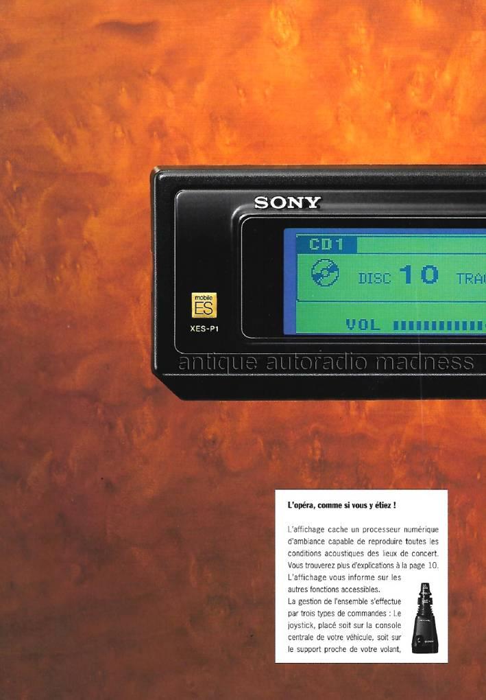 Catalogue Autoradio Sony Vintage Mobile Es 1991 1
