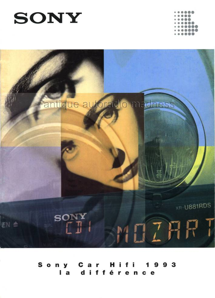 Catalogue Autoradio Sony Vintage 1993 1