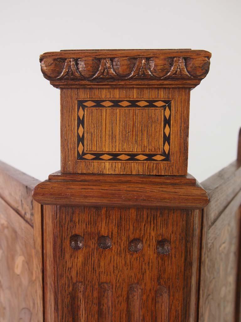 Antique Arts Amp Crafts Oak Firescreen