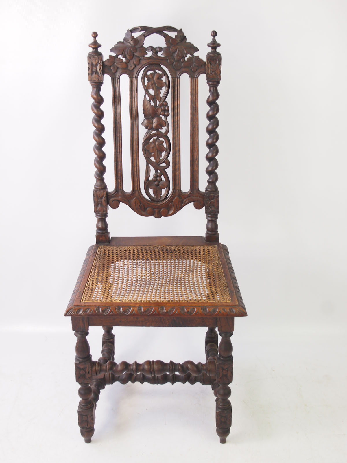 Antique Victorian Gothic Oak Chair