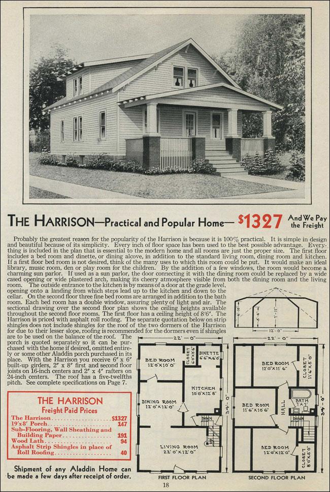 Aladdin Kit Homes 1931 Modern Bungalow Shed Dormer