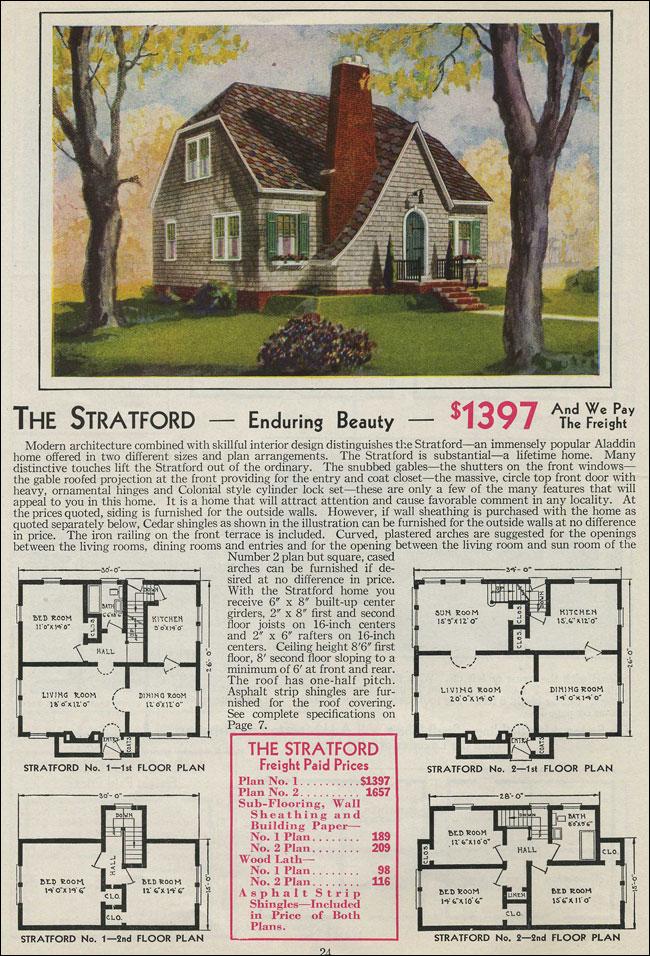 English Cottage Catslide Gable 1931 Stratford