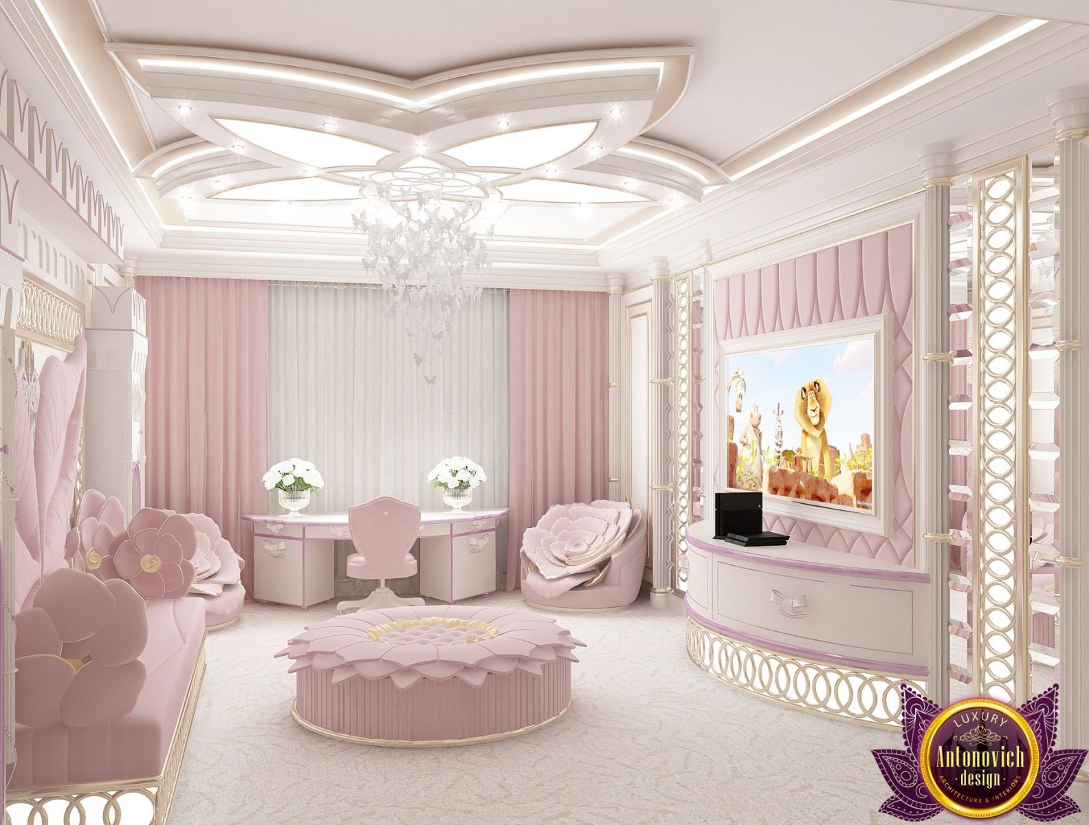 Royal Interior Design For A A Teenage Girl