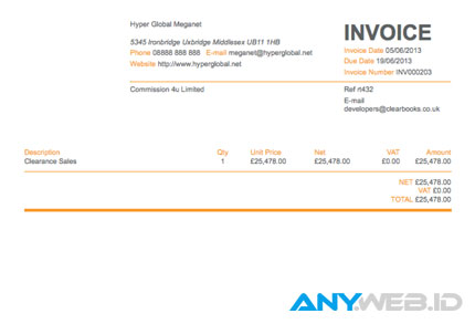 invoice - www.clearbooks.co.uk