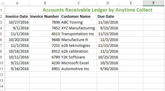 Customer Ledger Template