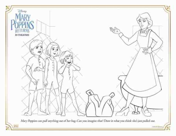 mary poppins coloring pages # 13