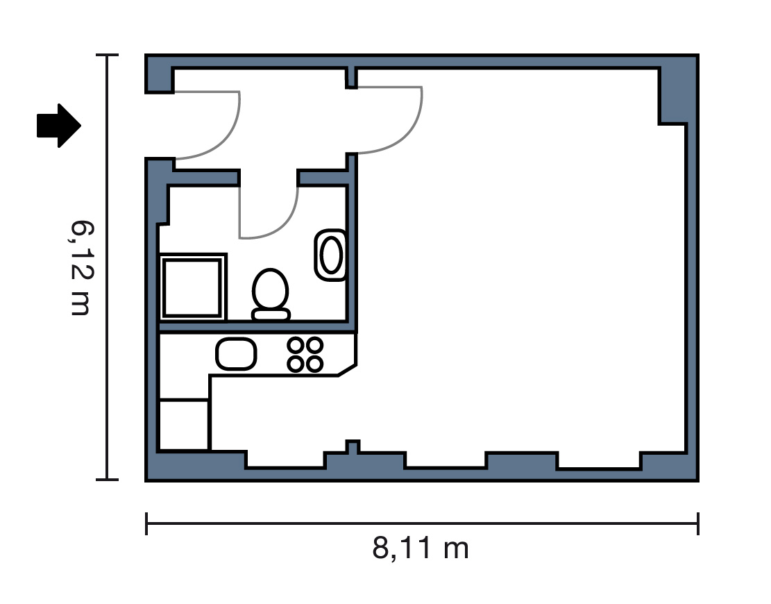 1-room apartments - apartberlin