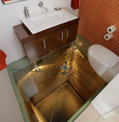 Glass Floor Bathroom Tile Design mod     Apartment Geeks Glass Floor Bathroom Tile Design mod