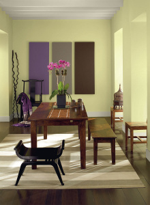 Interior Painting Cost for 2017     Apartment Geeks Light Sage Wall Color in a Small Dining Room