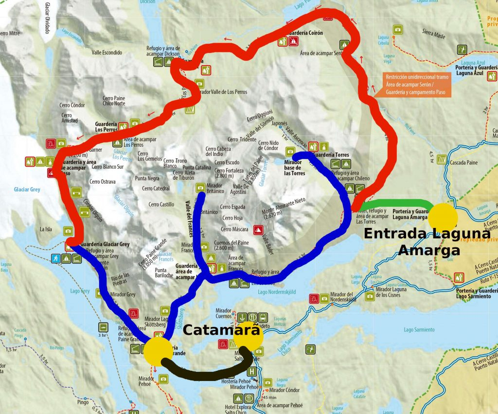 Circuito W Mapa : Torres del paine: guia definitivo dos circuitos w e o