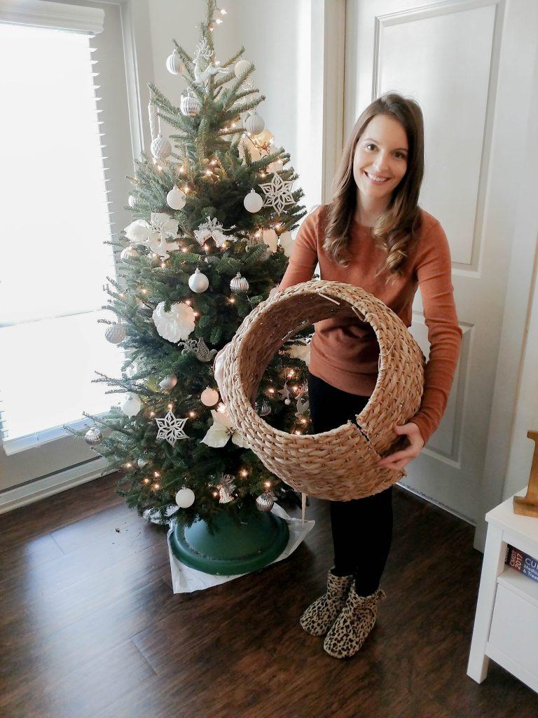 Wicker Tree Skirt Holiday Diy A Pinch Of Austria