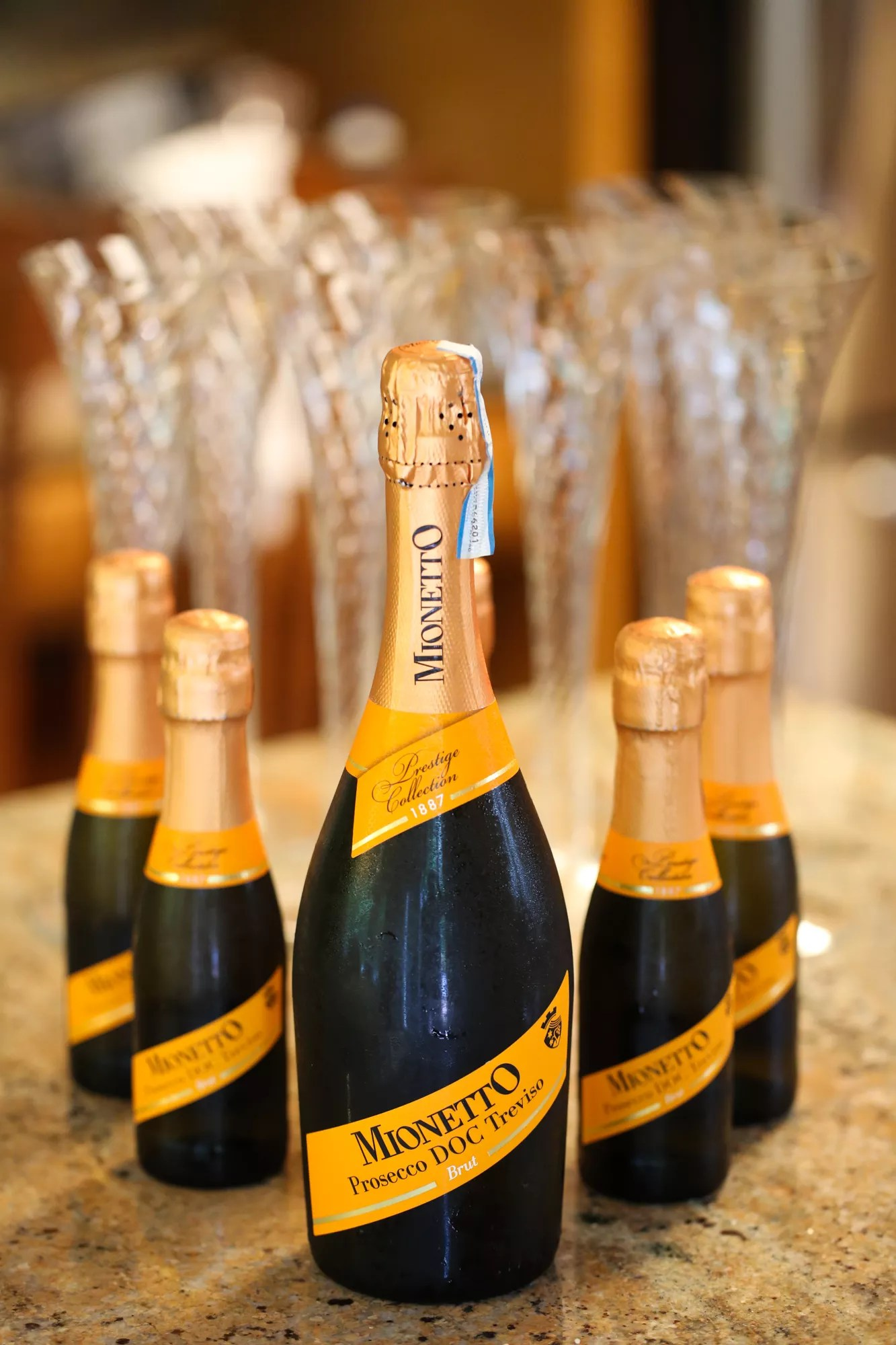 Champagne Split Wedding Favors
