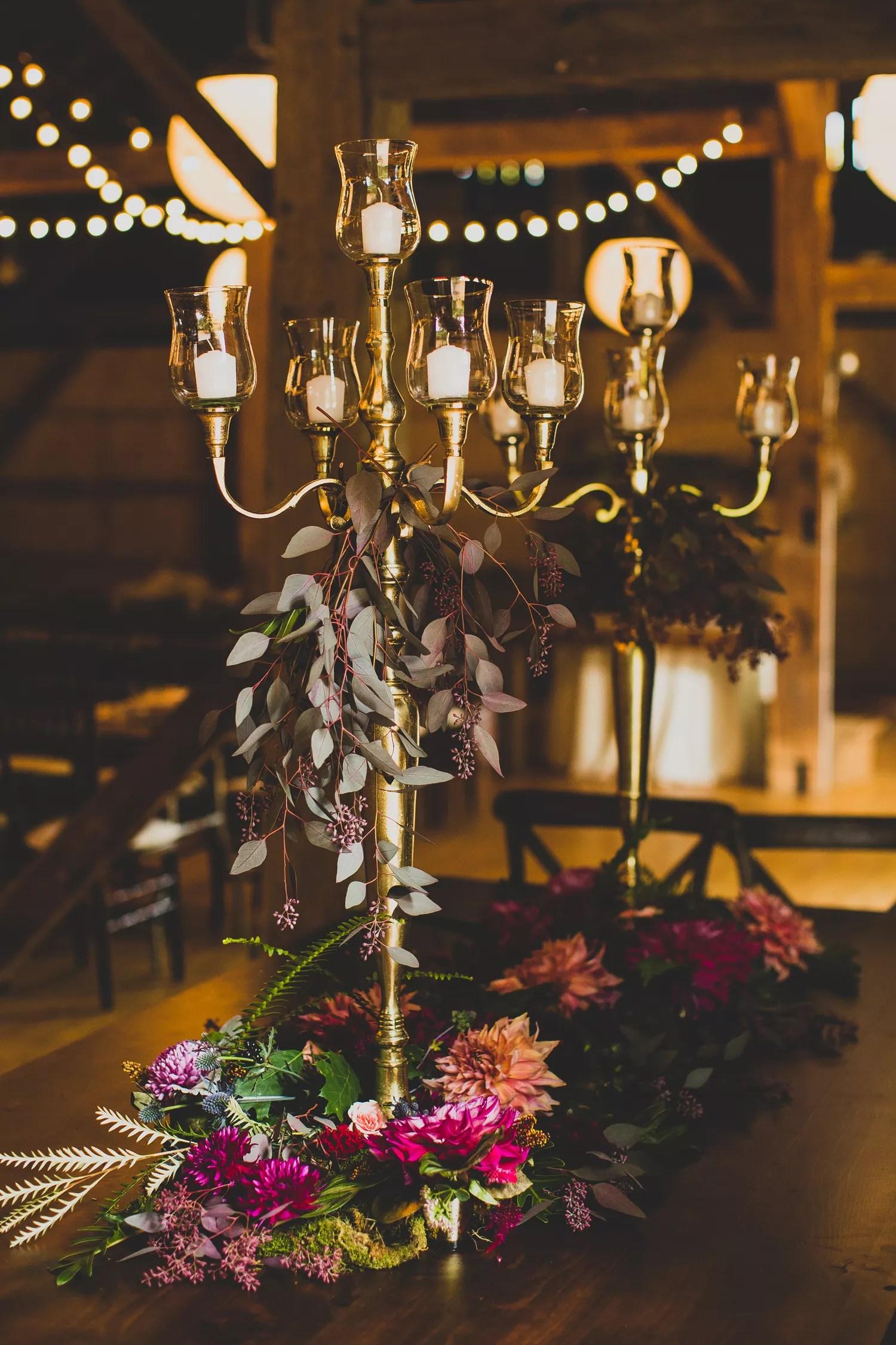 Head Table Candelabra Floral Centerpieces