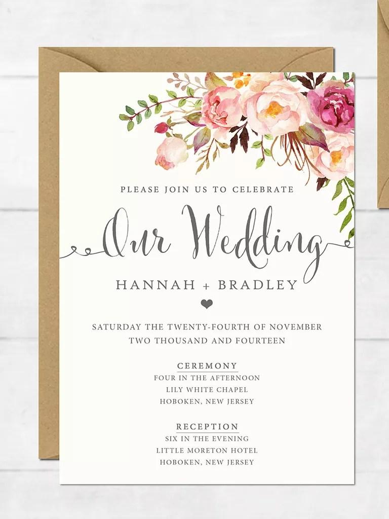 Sample Wedding Invitations Templates