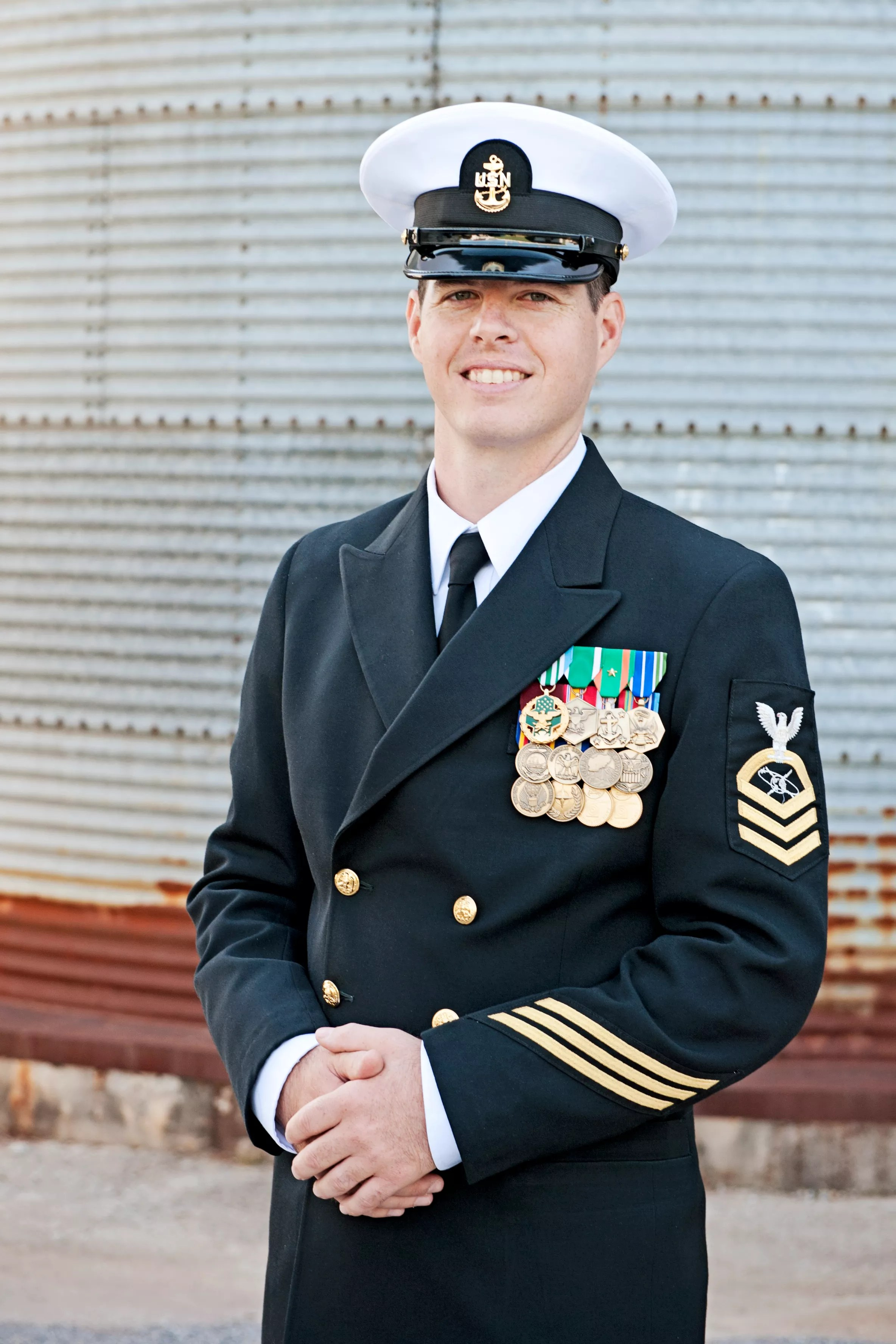 Groom Wearing Navy Seals Outfit
