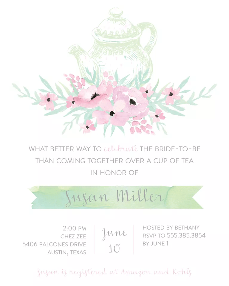 Bridal Invitation Wording