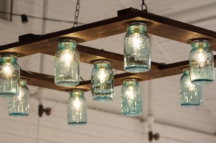 Hanging Mason Jar Light Fixture