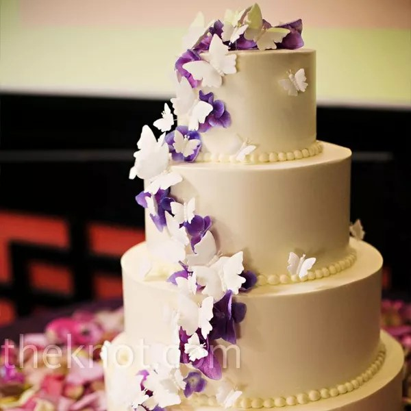 Butterly Wedding Cakes Purple Butterfly Cake