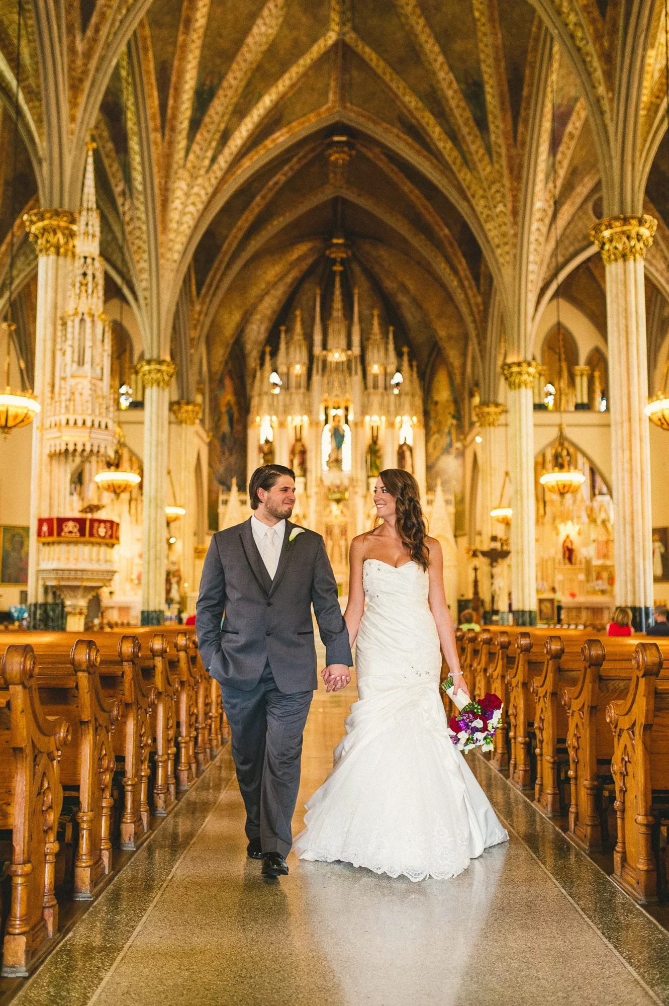 A Romantic Church Wedding At Sweetest Heart Of Mary Catholic Church In Detroit Michigan