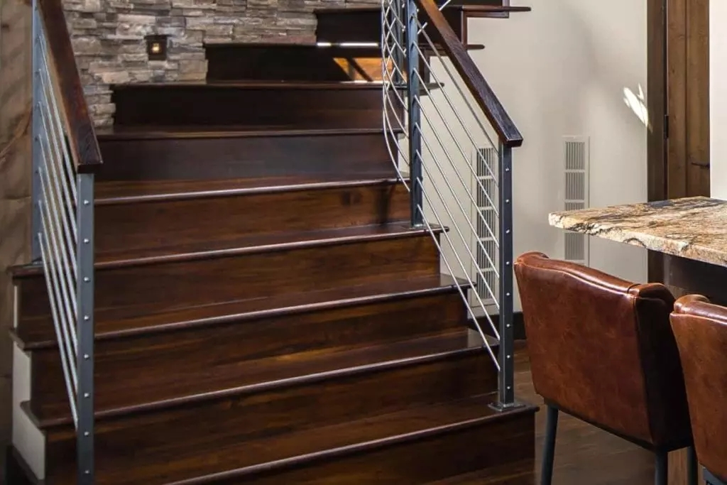 Stair Parts Appalachian Lumber | Wood Stairs With Wood Risers | Painting | Solid Oak Stair Treads Finished | Distressed | Before And After | Wooden