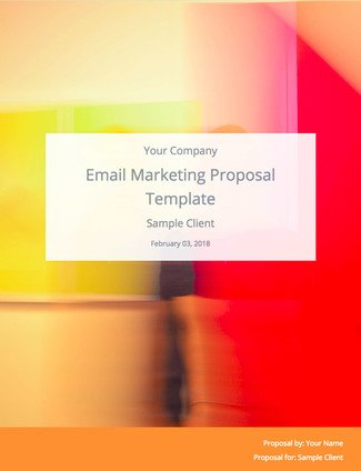 Email Marketing Proposal Template  and Sample    Bidsketch Email Marketing Proposal Template