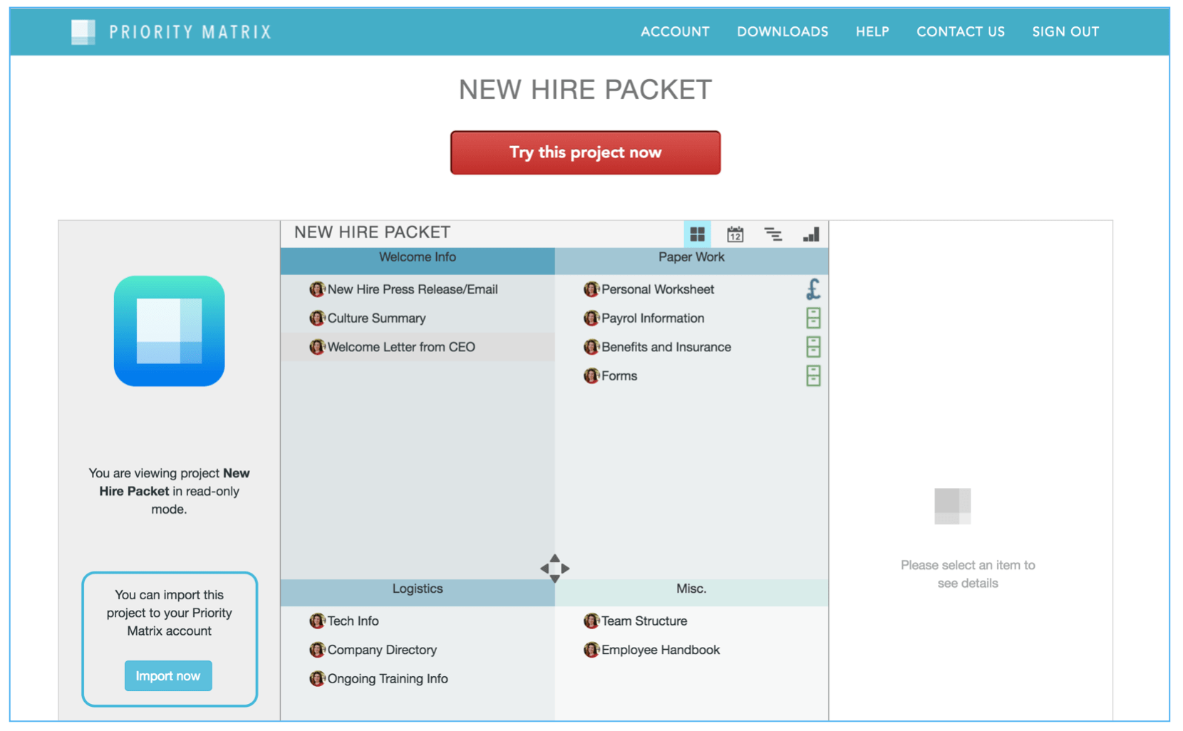 Creating a New Hire Packet in Priority Matrix - Priority ...