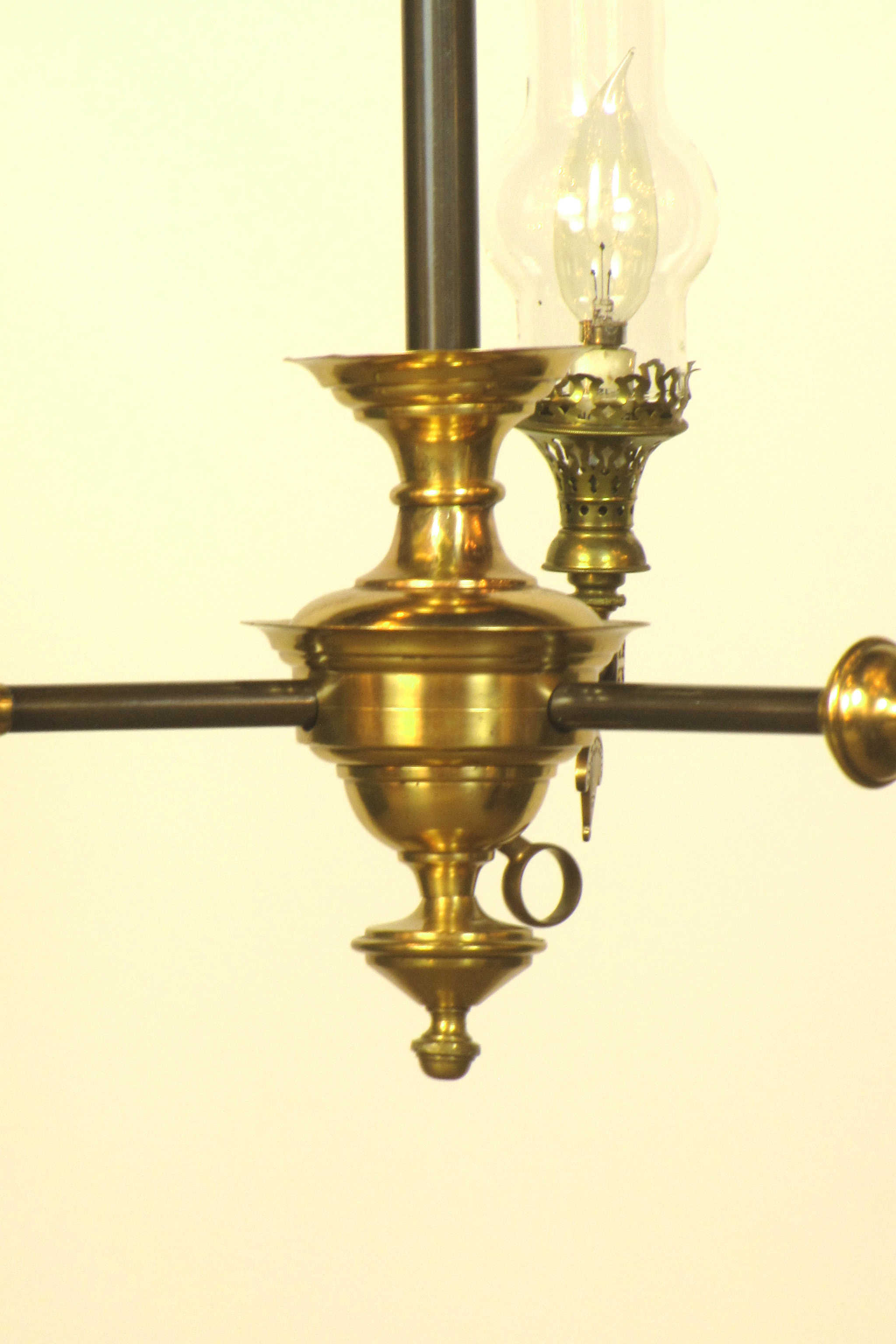 Sold Three Light Aesthetic Movement Fixture With Glass