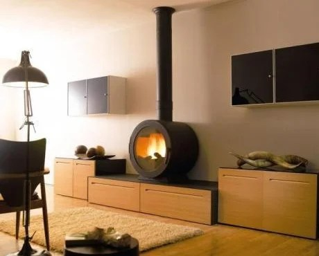 Contemporary Wood Burning Stoves By Cheminees Philippe