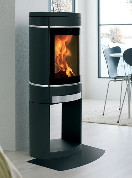 Scan 58 Wood Burning Stove Can Be Pedestal Or Wall Mount