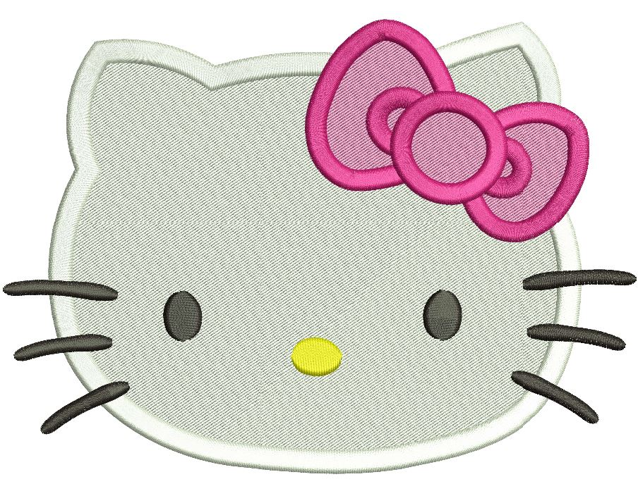 Designs hello embroidery kitty new