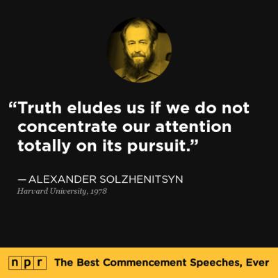 Alexander Solzhenitsyn at Harvard University, June 8, 1978 ...