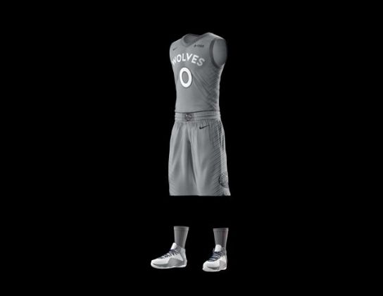 Timberwolves unveil gray  City Edition  uniform   StarTribune com The uniform will debut on Feb  1 when the Wolves play the Bucks at Target  Center