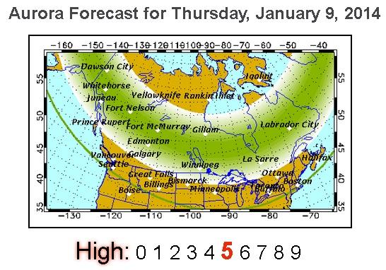 Northern Lights Juneau Forecast