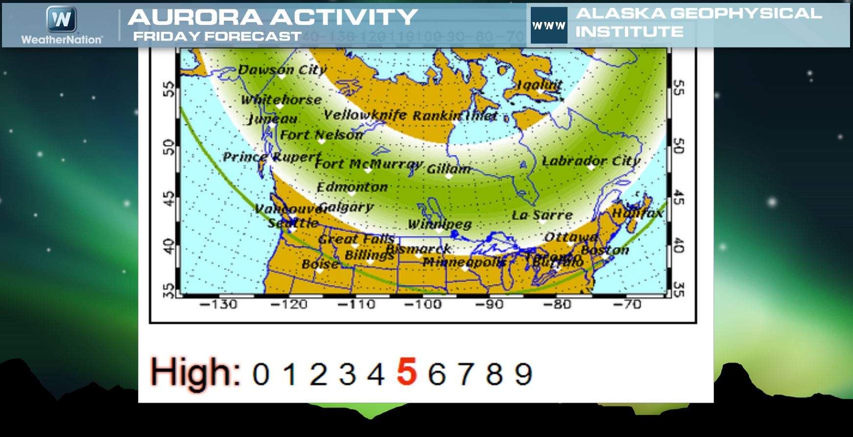Fairbanks Alaska Northern Lights Forecast