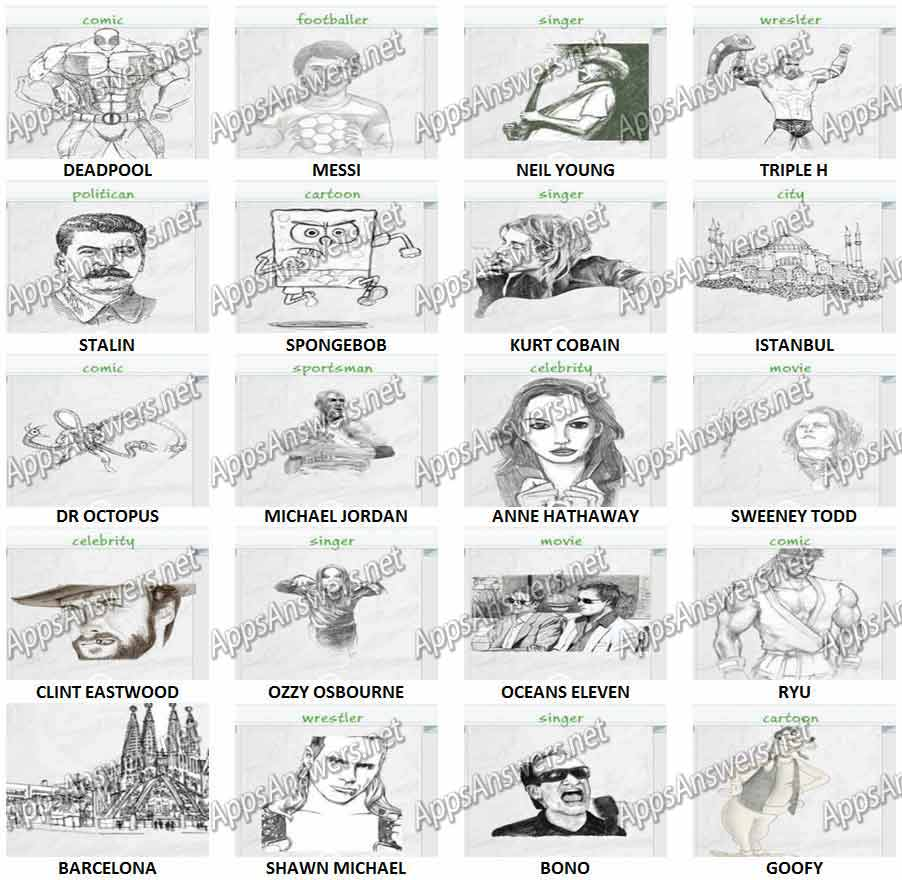 Guess The Drawing Level 141 – Level 160 Answers   Apps ...