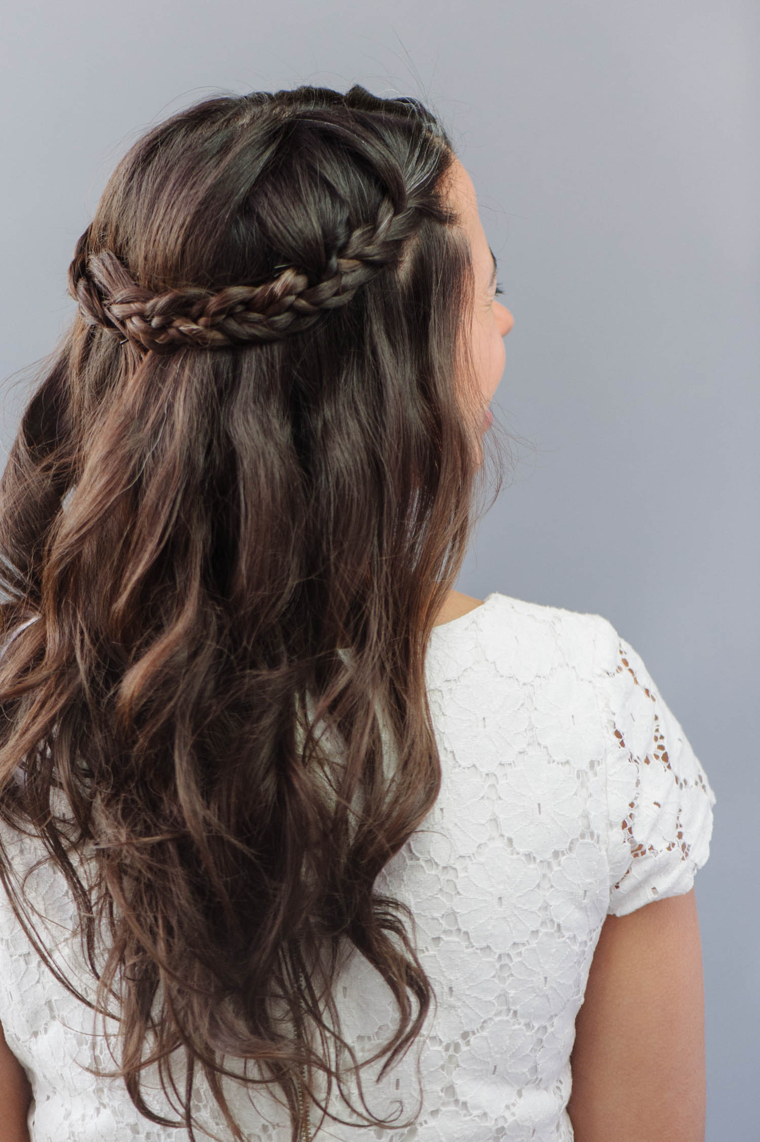 How To  Braided Wedding Hair for Beginners   A Practical Wedding Half up half down hair is the easiest way to have your cake and eat it too   Add braids and suddenly that cake is ice cream cake  a k a  a hundred times  more