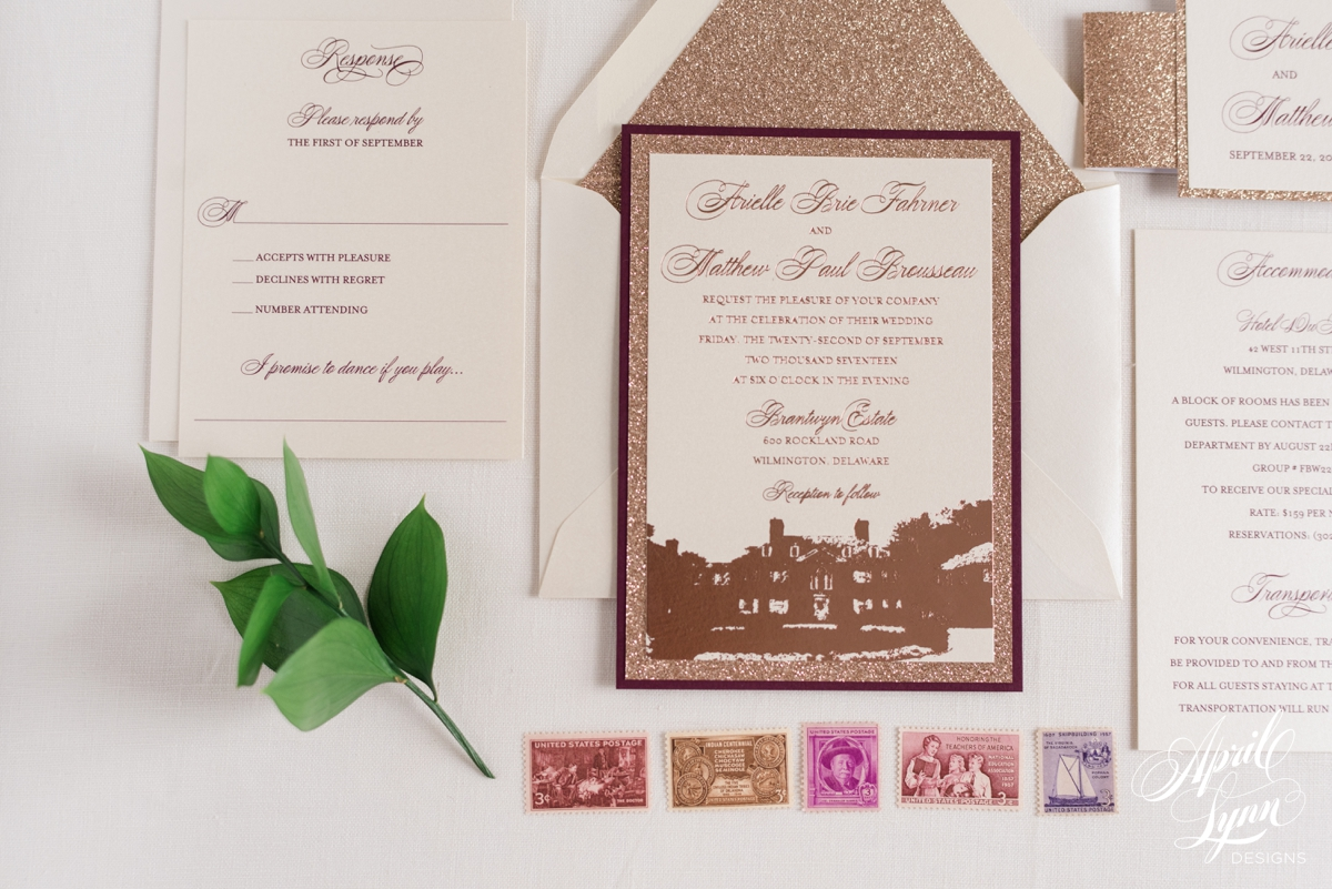 Custom Glitter Invitations