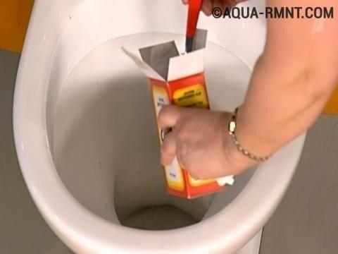 Curățarea sifonului de toaletă