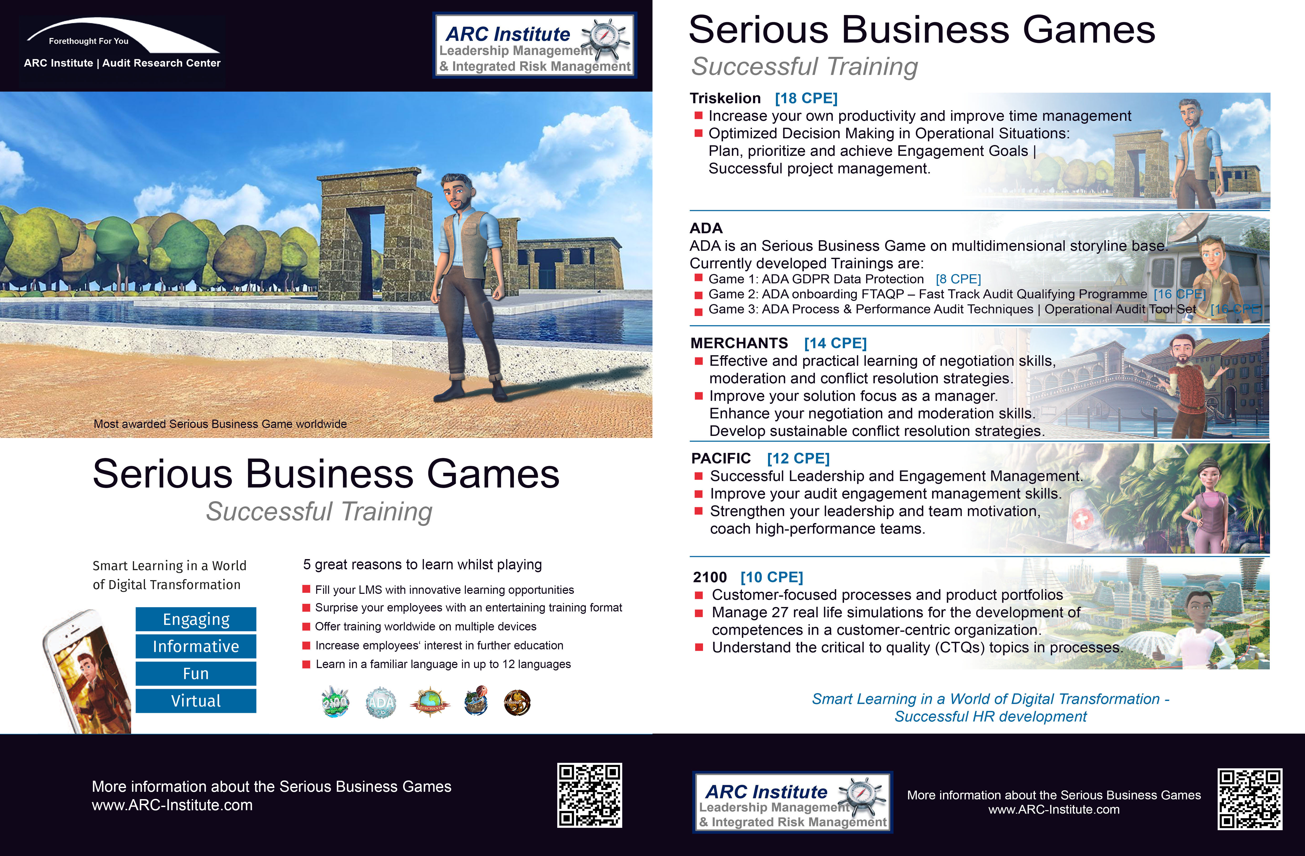 Serious Business Games ARC-Institute Audit Research Center